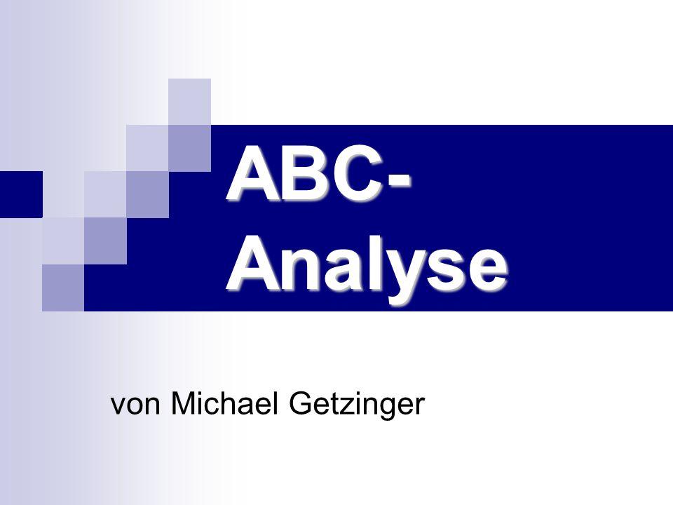 ABC- Analyse von Michael Getzinger