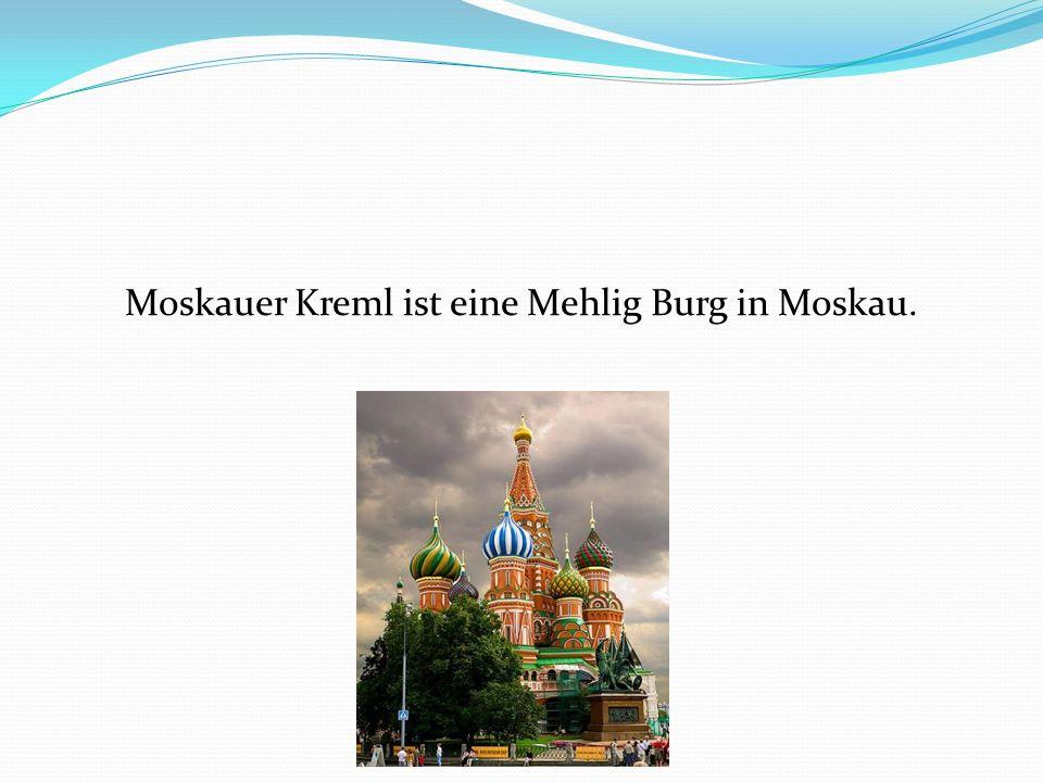 Moskauer Kreml ist eine Mehlig Burg in Moskau.