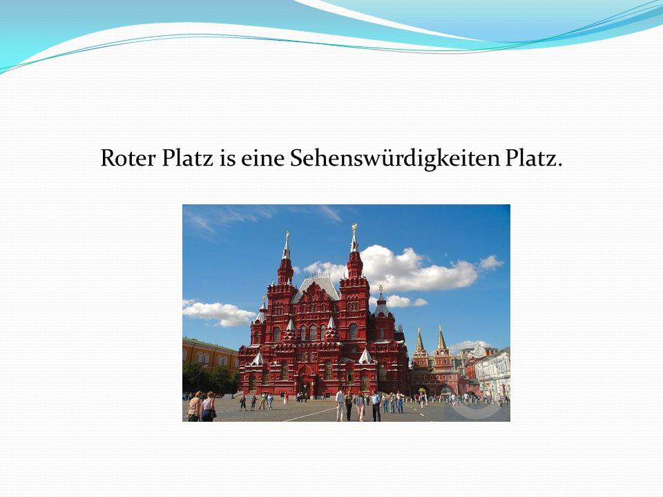 Roter Platz is eine Sehenswürdigkeiten Platz.