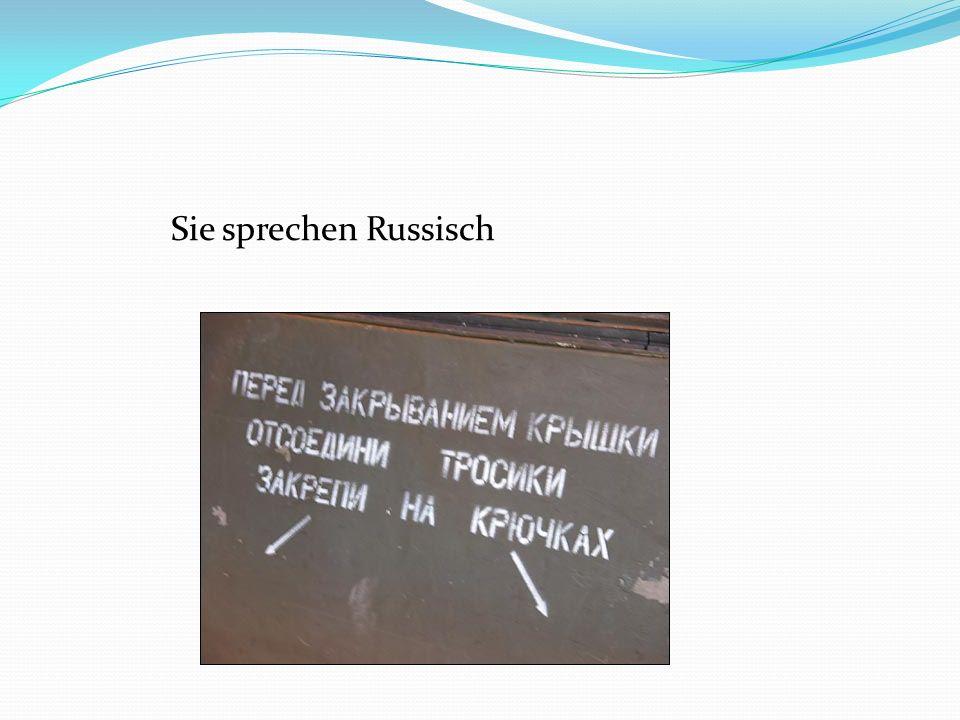 Sie sprechen Russisch