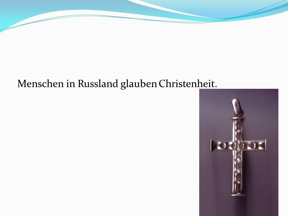 Menschen in Russland glauben Christenheit.