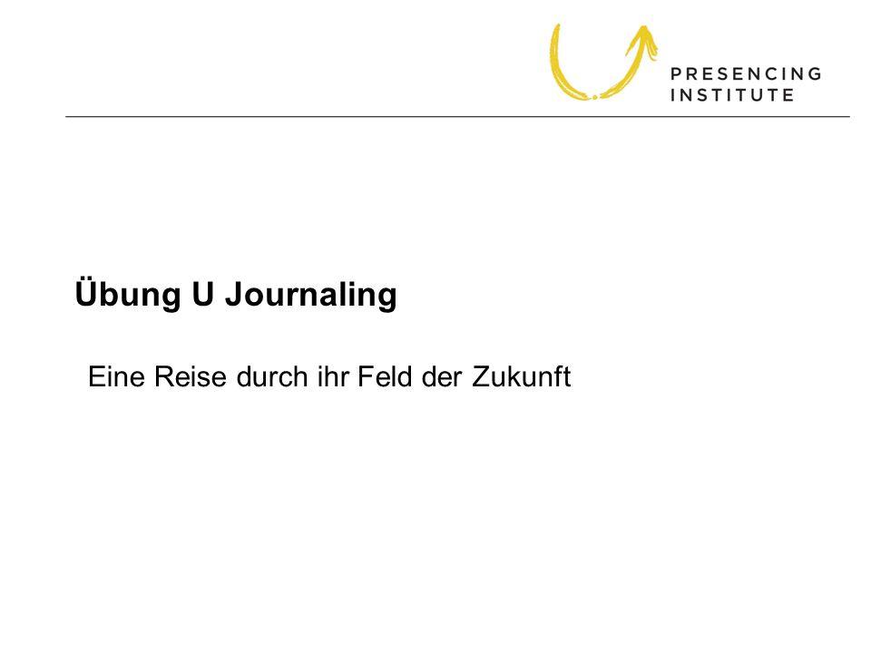 Übung U Journaling Eine Reise durch ihr Feld der Zukunft