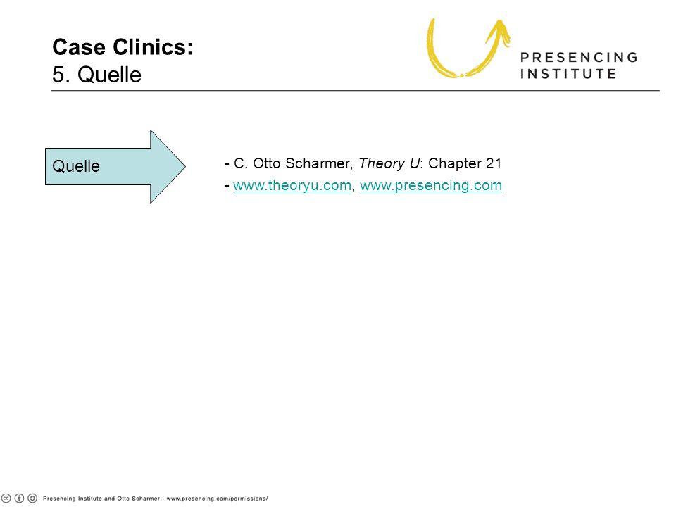 Case Clinics: 5. Quelle Quelle - C. Otto Scharmer, Theory U: Chapter 21 -www.theoryu.com, www.presencing.comwww.theoryu.comwww.presencing.com