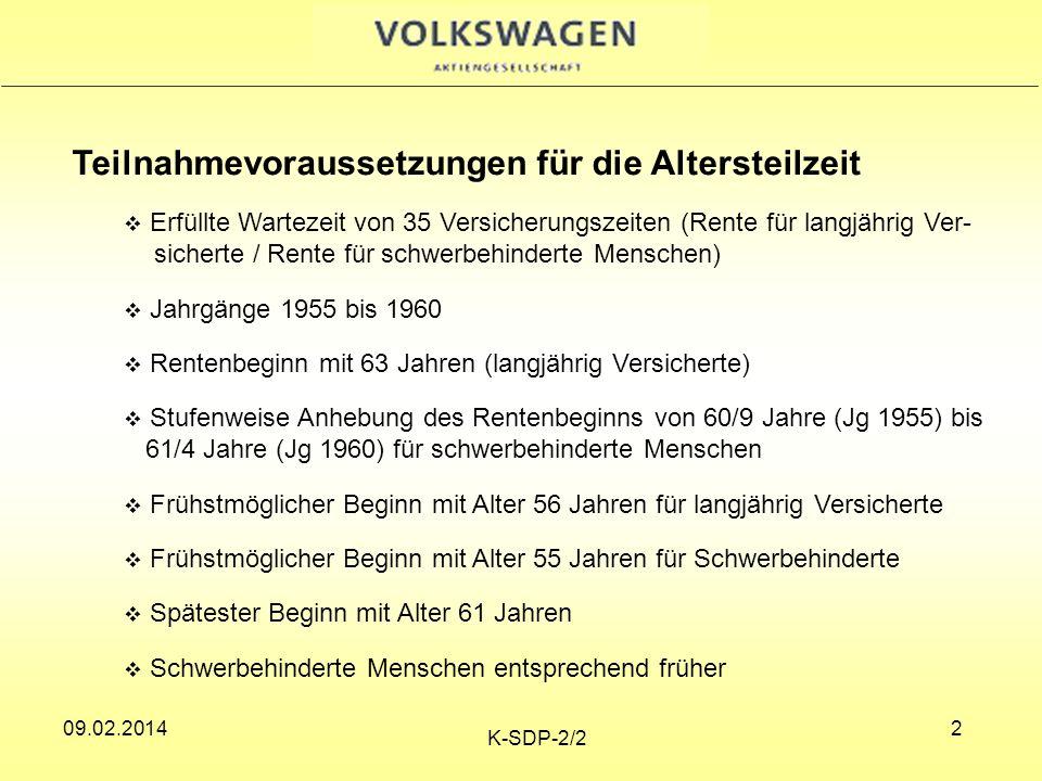 09.02.2014 K-SDP-2/2 3 09.02.2014 3 Wartezeit Auf die Wartezeit werden alle rentenrechtliche Zeiten angerechnet (§ 50 GB VI) Rentenrechtliche Zeiten sind (§ 54 SGB VI): - Zeiten mit vollen Beiträgen - Beitragsgeminderte Zeiten (zB.