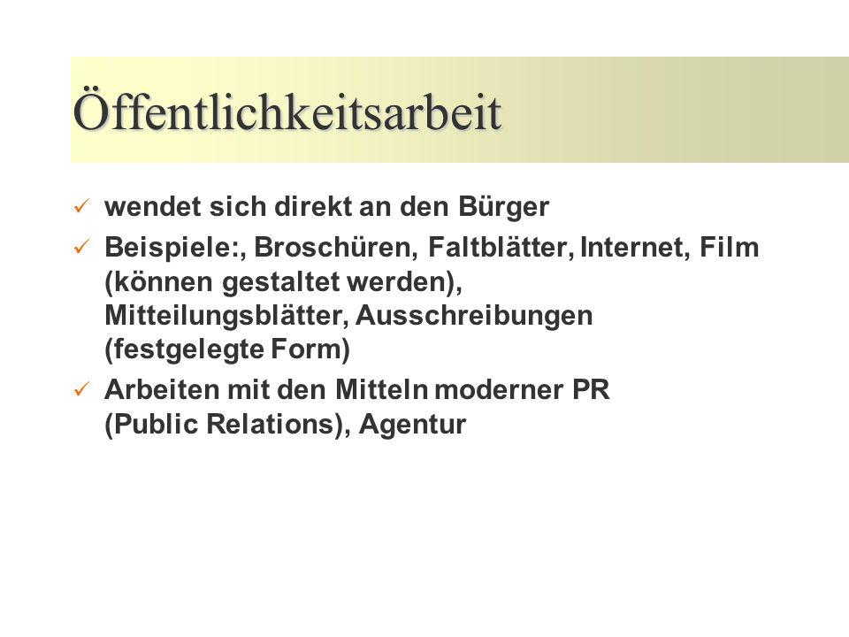 Presse- und Öffentlichkeitsarbeit in der öffentlichen Verwaltung 24. bis 25. September 2007 Kommunalakademie Rheinland-Pfalz