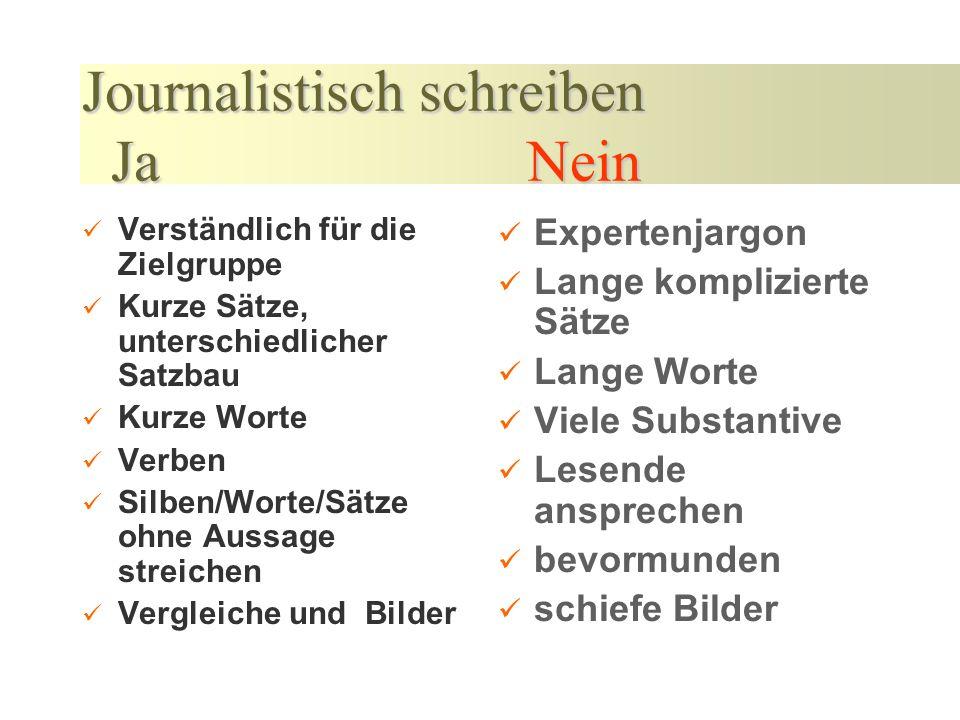 Vorarbeiten/Planung Das Thema medienrelevant bestimmen Recherche der Fakten Text schreiben Text gegenlesen lassen Presseverteiler bestimmen / aktualis