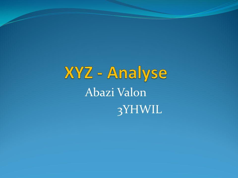 Was ist eine XYZ – Analyse.