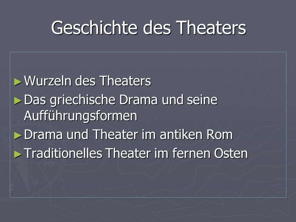 1.Wurzeln des Theaters Fragen und Antworten Formen des Theaters sind zuerst im alten Ägypten um 1500 v.Ch nachweisbar.