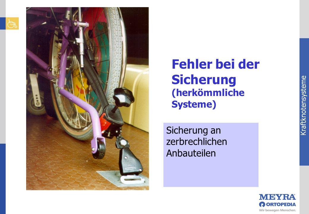 Kraftknotensysteme Sicherung an zerbrechlichen Anbauteilen Fehler bei der Sicherung (herkömmliche Systeme)