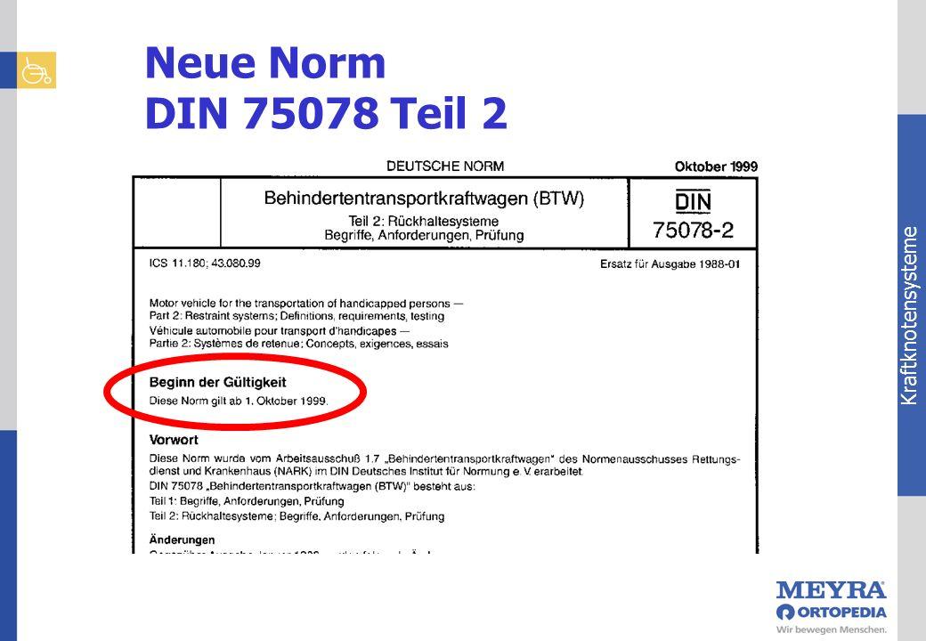 Kraftknotensysteme Neue Norm DIN 75078 Teil 2