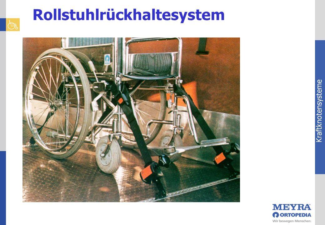 Kraftknotensysteme Rollstuhlrückhaltesystem