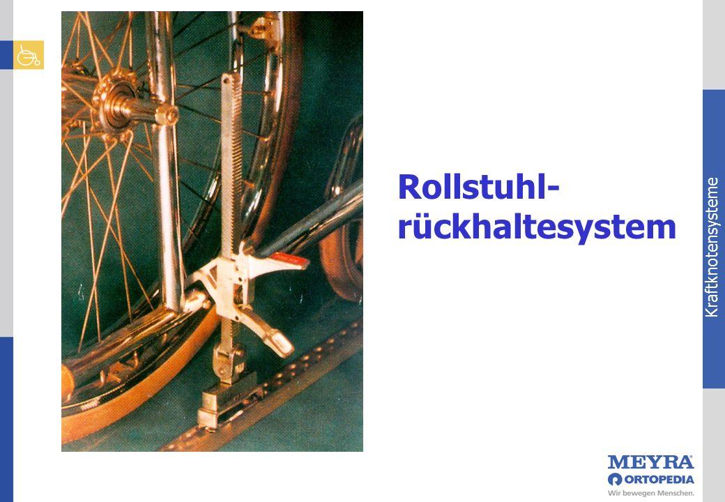 Kraftknotensysteme Rollstuhl- rückhaltesystem