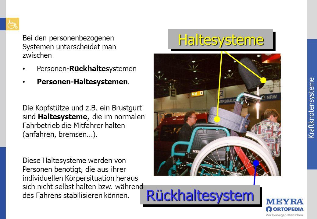 Kraftknotensysteme HaltesystemeHaltesysteme RückhaltesystemRückhaltesystem Bei den personenbezogenen Systemen unterscheidet man zwischen Personen-Rück