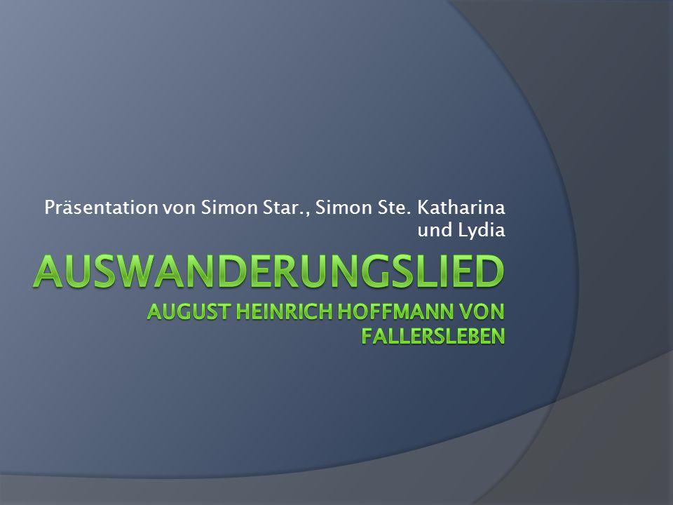 Präsentation von Simon Star., Simon Ste. Katharina und Lydia