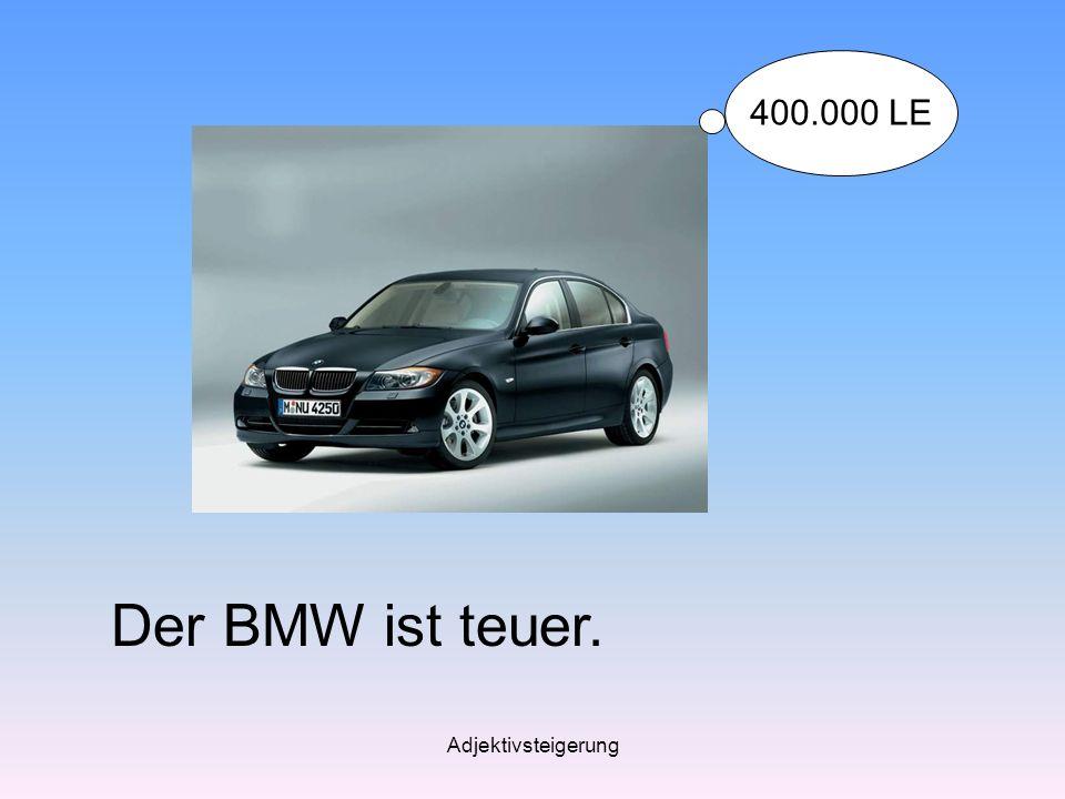 Adjektivsteigerung Der BMW ist teuer. 400.000 LE