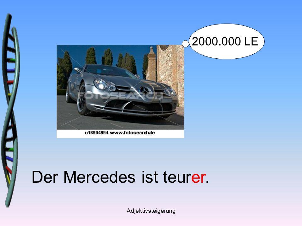 Adjektivsteigerung Der Mercedes ist teurer. 2000.000 LE