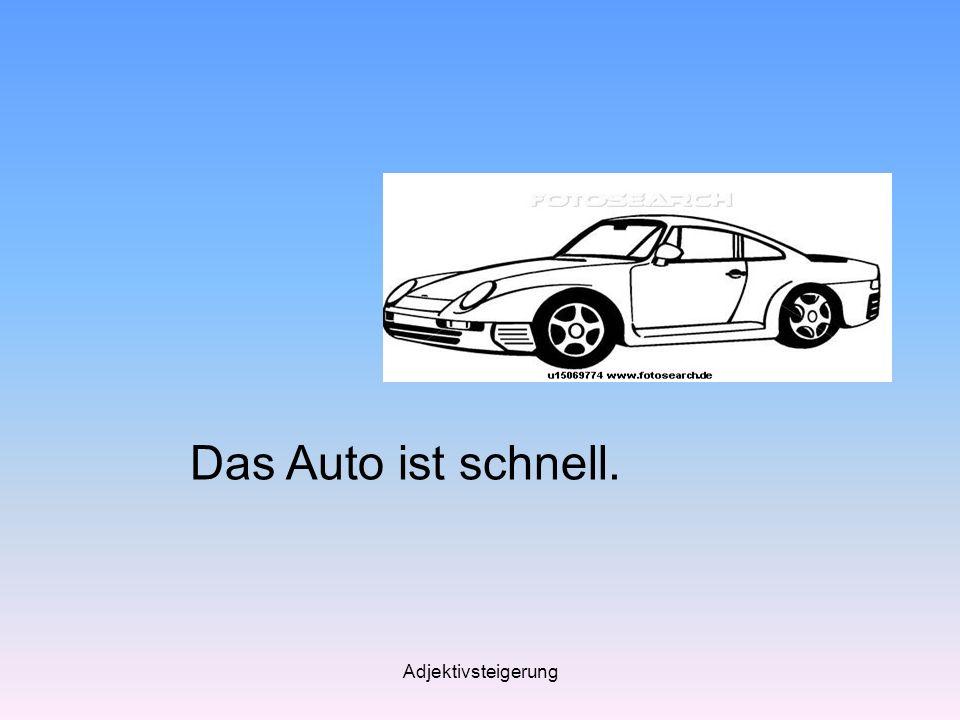 Adjektivsteigerung Das Auto ist schnell.