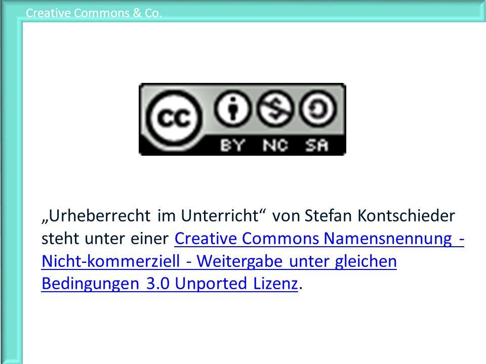 Urheberrecht im Unterricht von Stefan Kontschieder steht unter einer Creative Commons Namensnennung - Nicht-kommerziell - Weitergabe unter gleichen Be