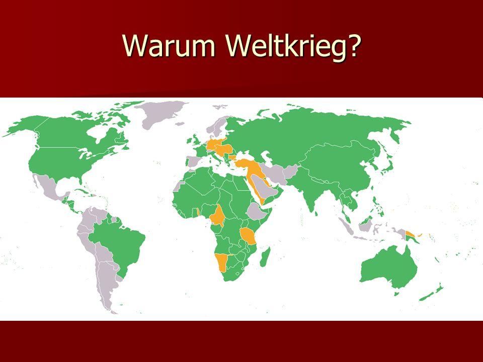 Warum Weltkrieg?
