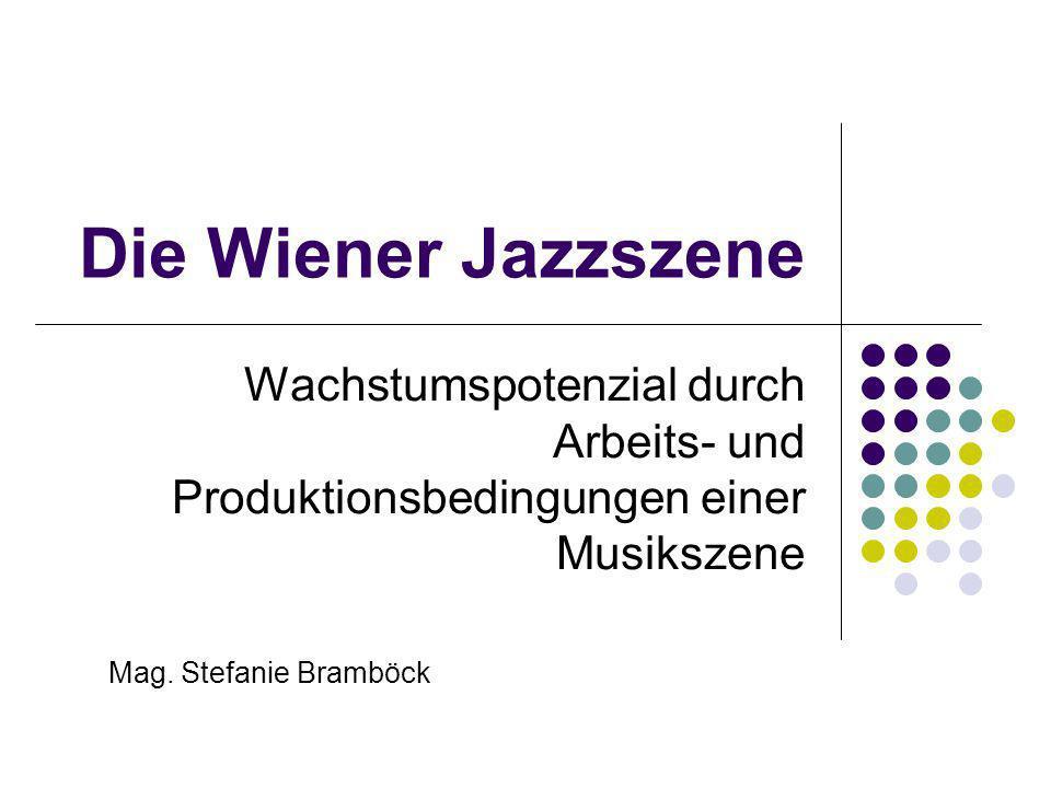Übersicht Forschungsfragen Methode und Theorie Arbeitsbedingungen der Wiener Jazzszene Ausbildung, Auftrittsituation, Jazzvermittlung, Medien, etc.