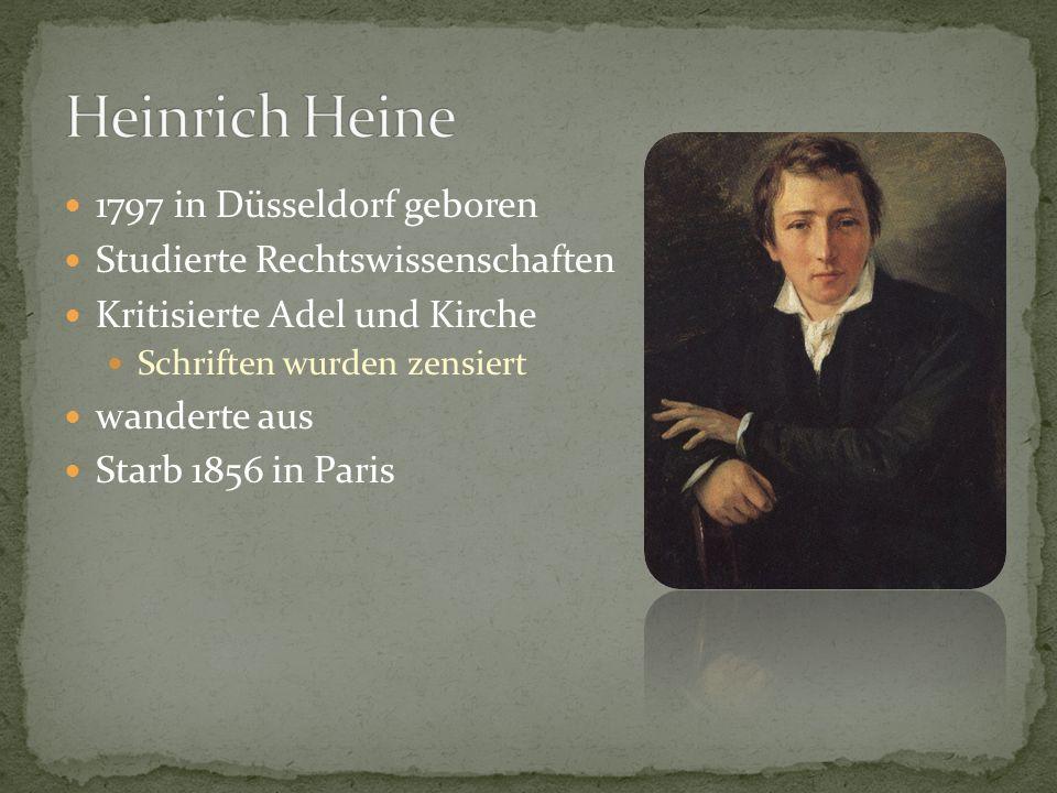 1797 in Düsseldorf geboren Studierte Rechtswissenschaften Kritisierte Adel und Kirche Schriften wurden zensiert wanderte aus Starb 1856 in Paris