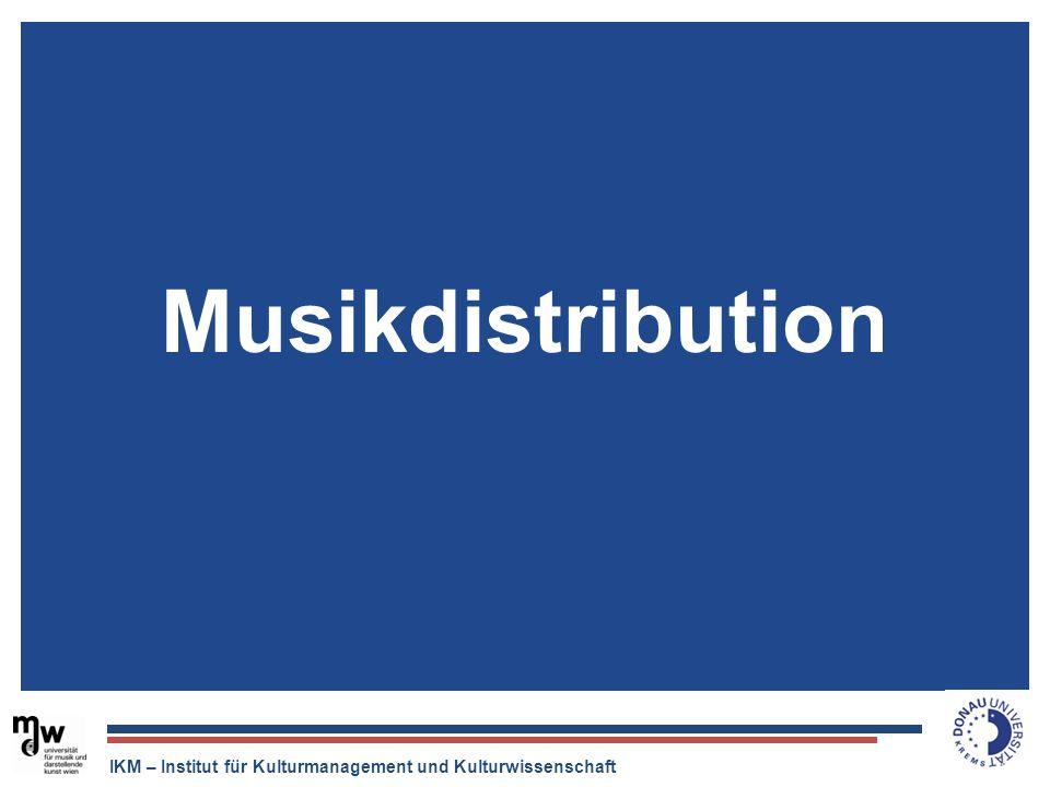 IKM – Institut für Kulturmanagement und Kulturwissenschaft Musikdistribution
