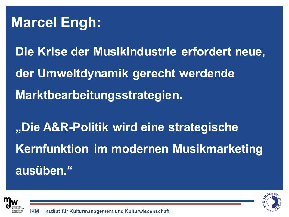 IKM – Institut für Kulturmanagement und Kulturwissenschaft Der Tonträger ist tot, aber die Musikindustrie ist quicklebendig. Die Krise der Musikindust