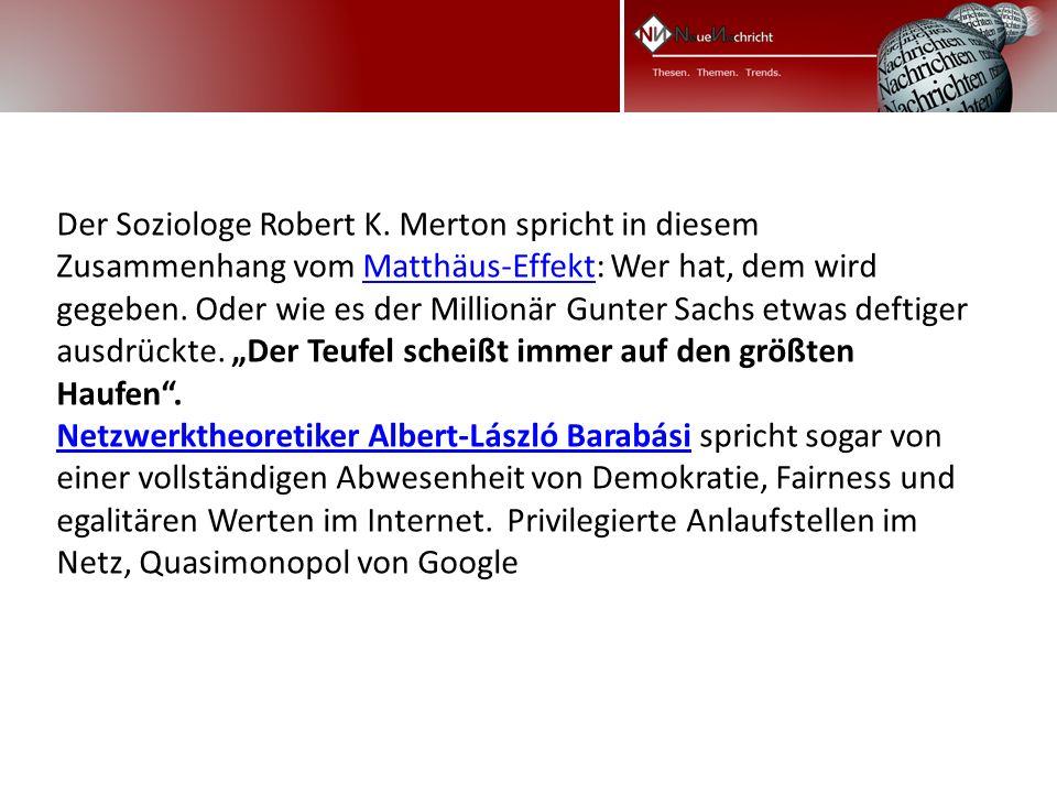 Der Soziologe Robert K.