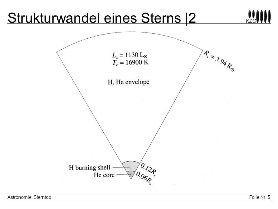 Folie Nr. 5 Astronomie. Sterntod. Strukturwandel eines Sterns |2