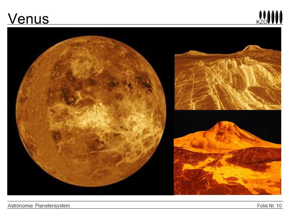 Folie Nr. 10 Astronomie. Planetensystem. Venus