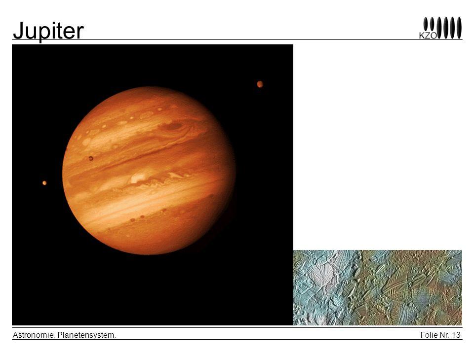 Folie Nr. 13 Astronomie. Planetensystem. Jupiter