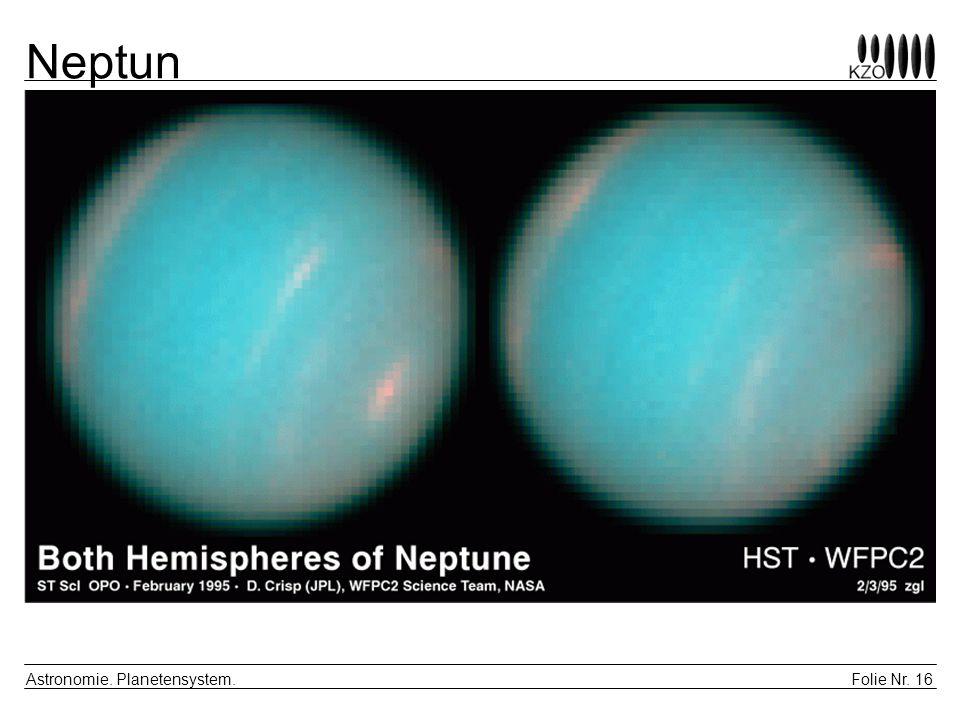 Folie Nr. 16 Astronomie. Planetensystem. Neptun