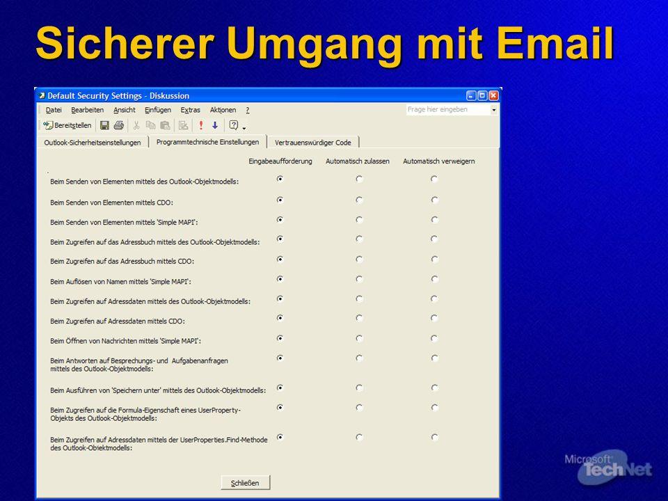 Sicherer Umgang mit Email