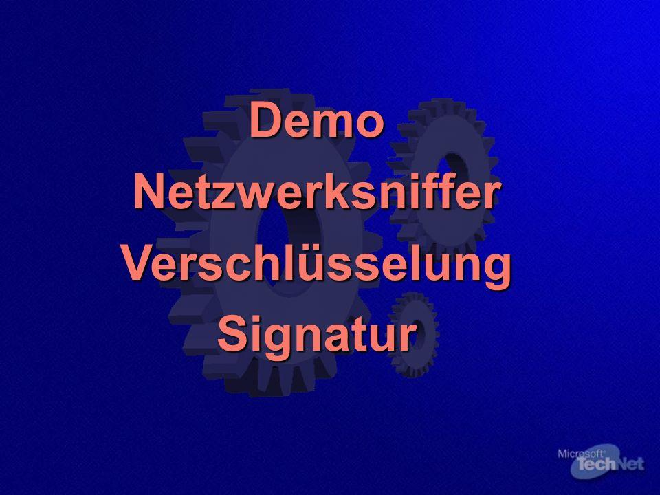 DemoNetzwerksnifferVerschlüsselungSignatur