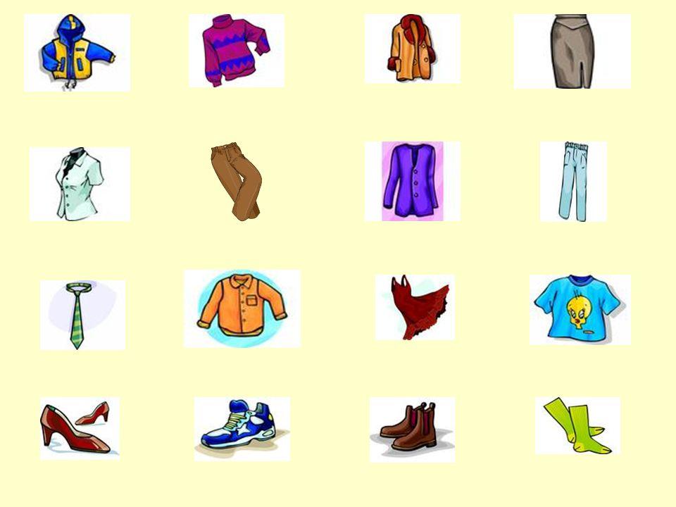 der Anorakder Pulloverder Mantelder Rock die Blusedie Jackedie Hosedie Jeans die Krawattedas Hemddas T-Shirtdas Kleid die Schuhedie Sportschuhedie Sti