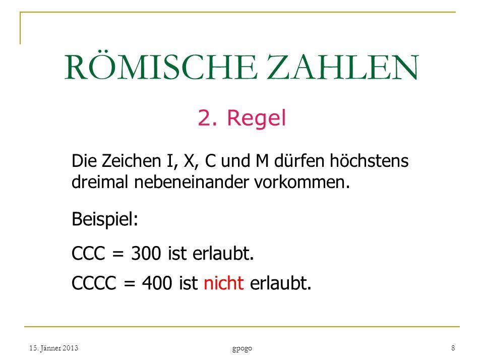 RÖMISCHE ZAHLEN 2.