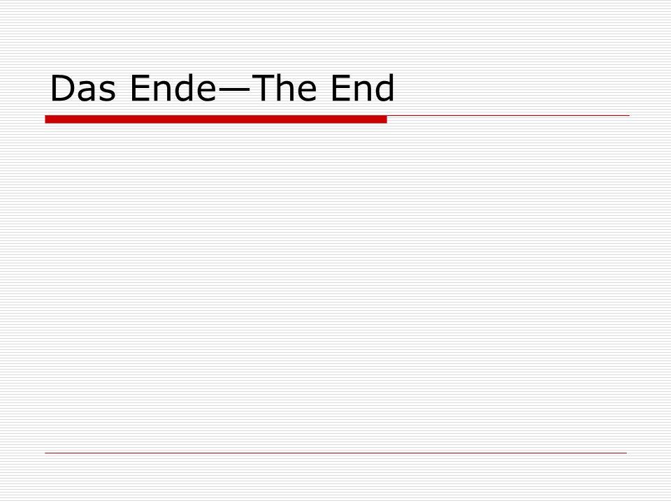 Das EndeThe End