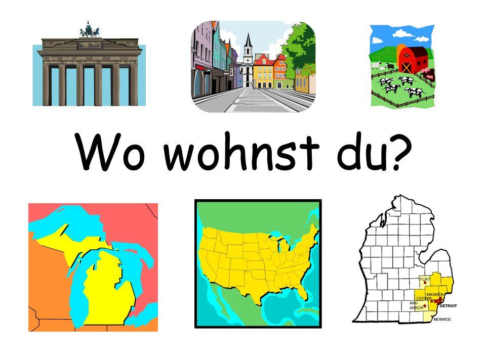 Ich wohne in Holland.