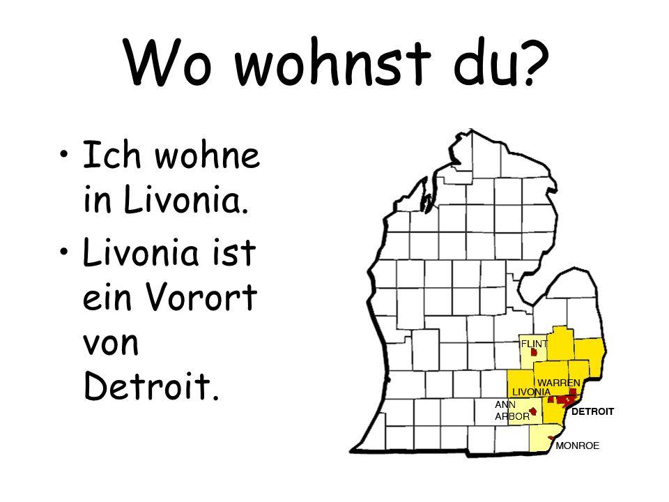 Wo wohnst du? Ich wohne in Berlin.