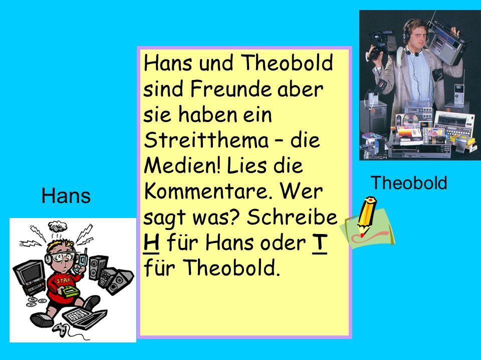 Hi. Ich bin der Theobold. Die 80er Jahre waren die Beste.