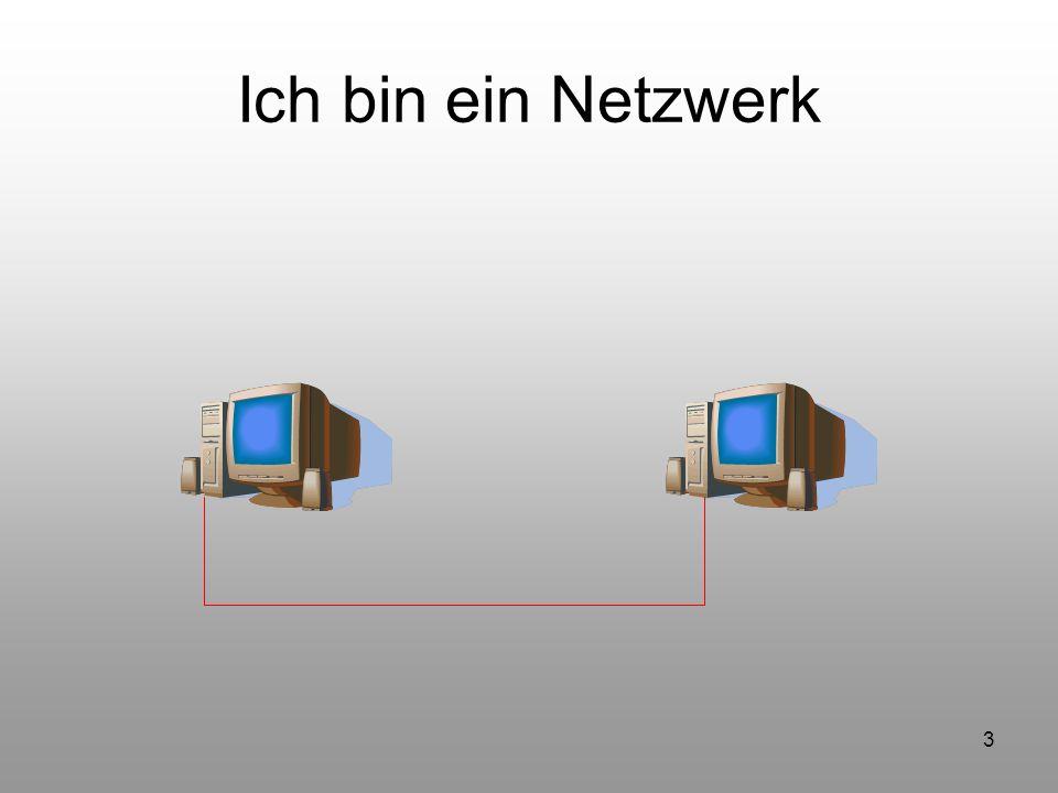 4 Was benötigen diese Computer um miteinander zu kommunizieren ? Netzwerkkarte Übertragungsmedium