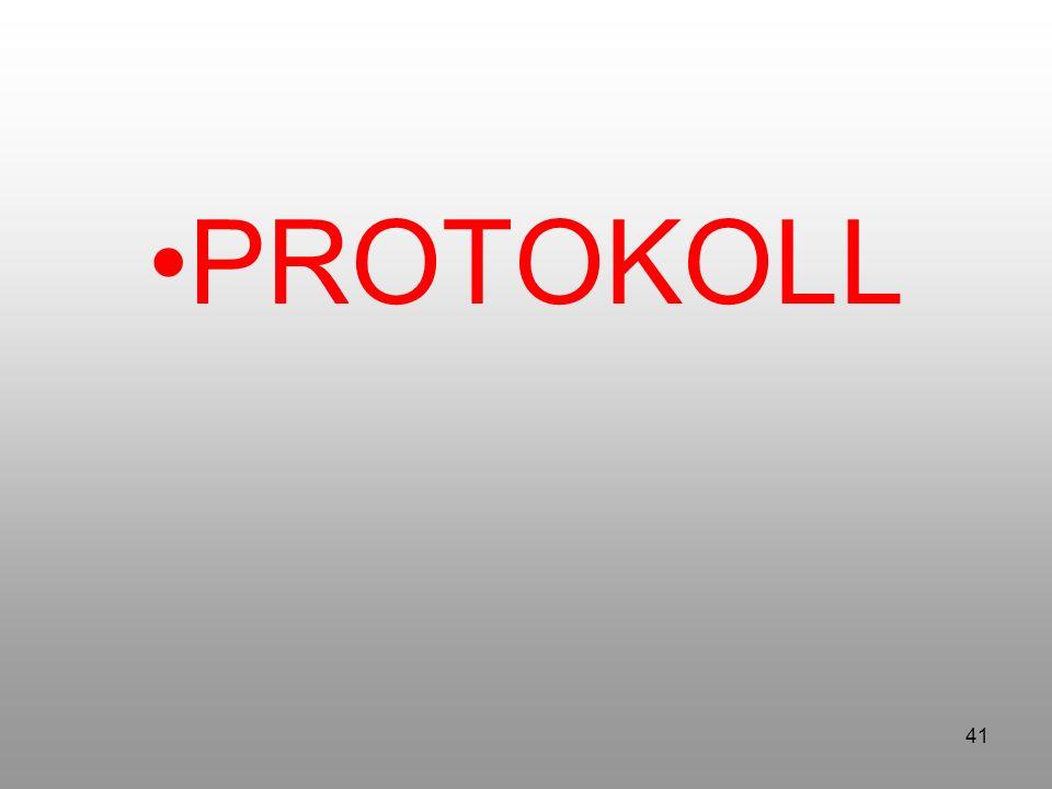 41 PROTOKOLL
