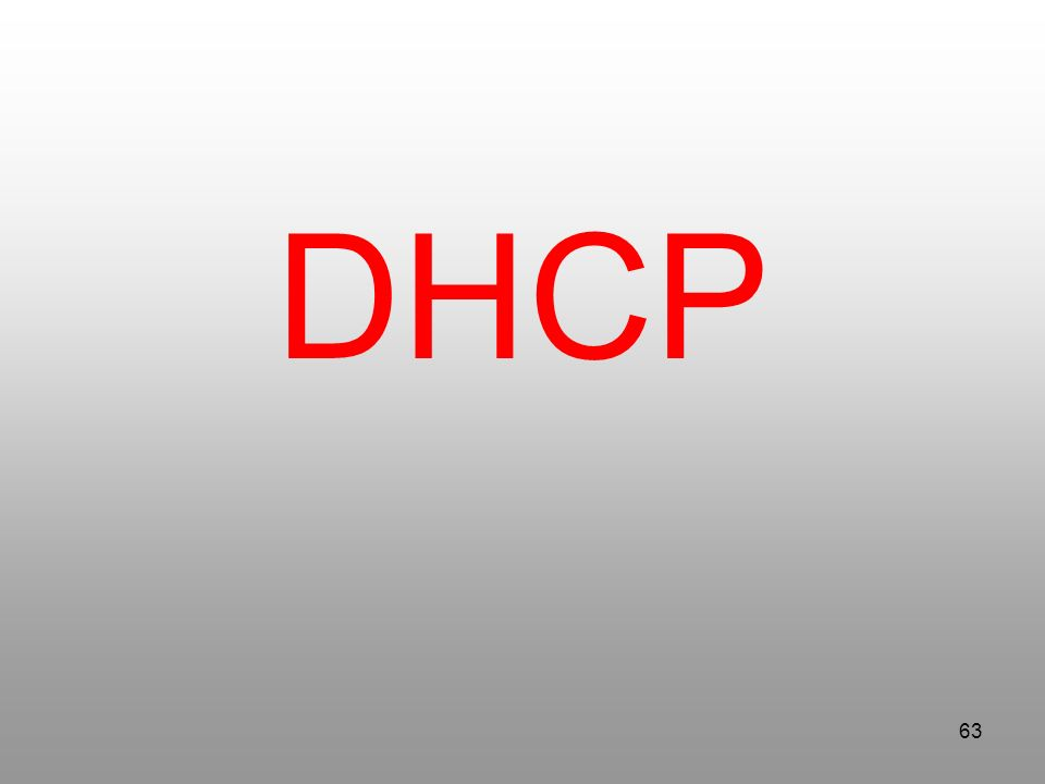 63 DHCP