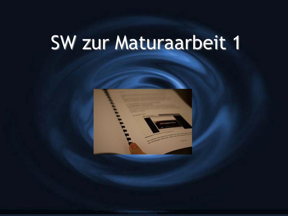 SW zur Maturaarbeit 1