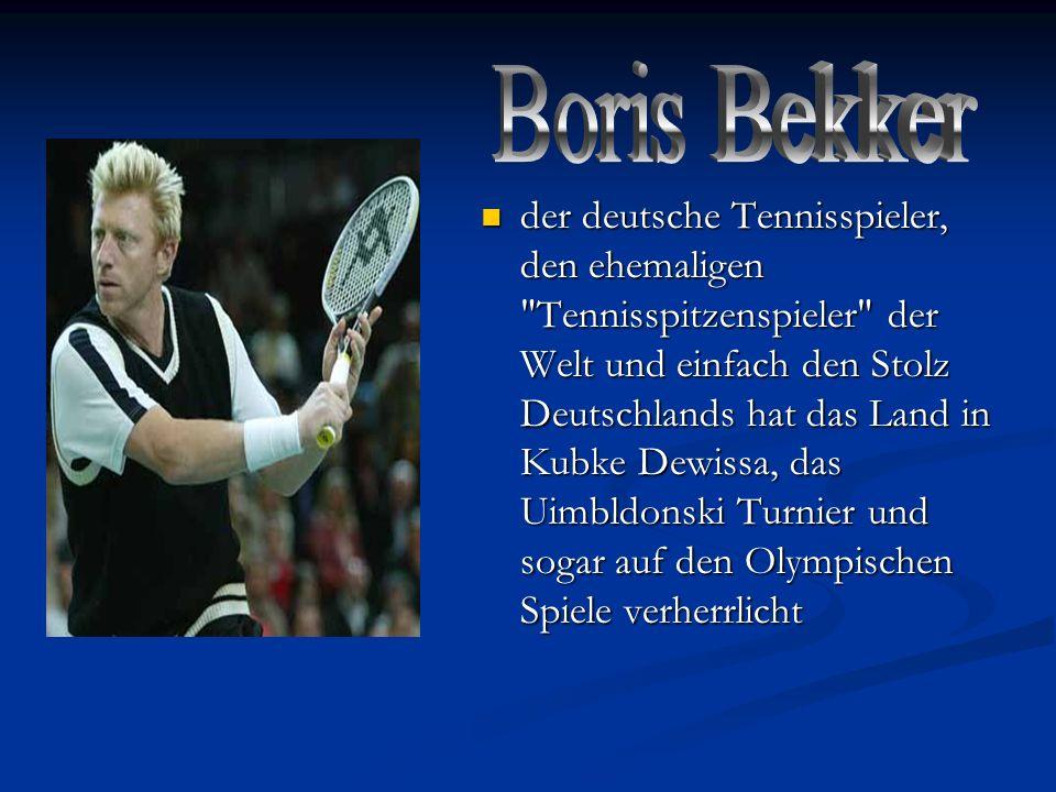 der deutsche Tennisspieler, den ehemaligen
