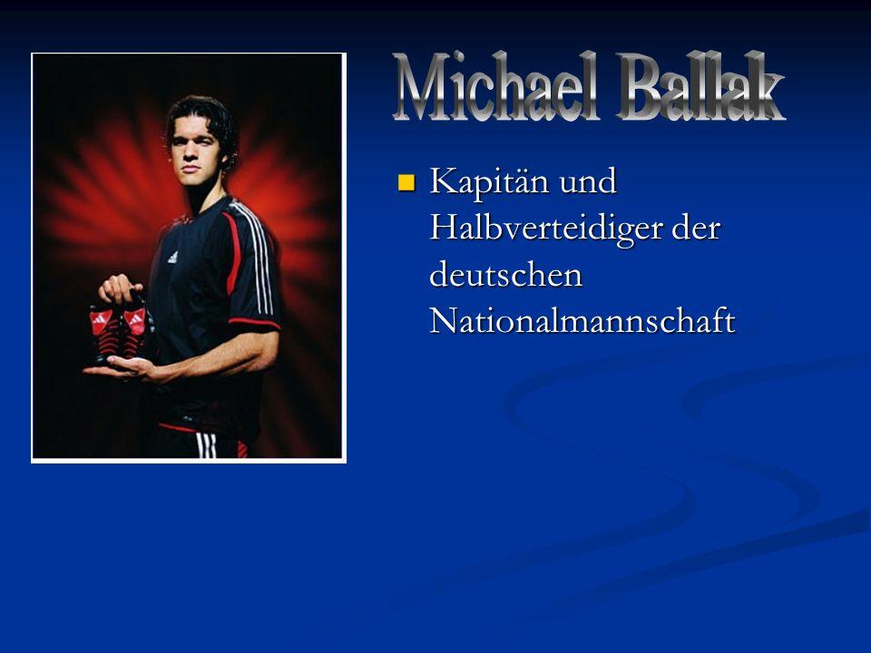 Kapitän und Halbverteidiger der deutschen Nationalmannschaft Kapitän und Halbverteidiger der deutschen Nationalmannschaft