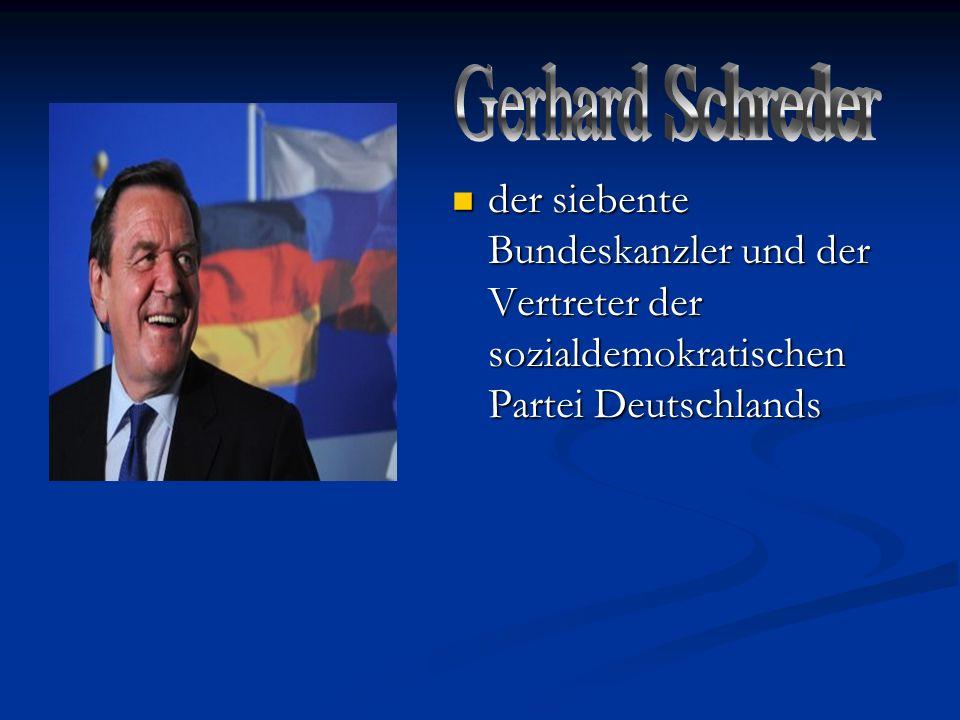 der siebente Bundeskanzler und der Vertreter der sozialdemokratischen Partei Deutschlands der siebente Bundeskanzler und der Vertreter der sozialdemok