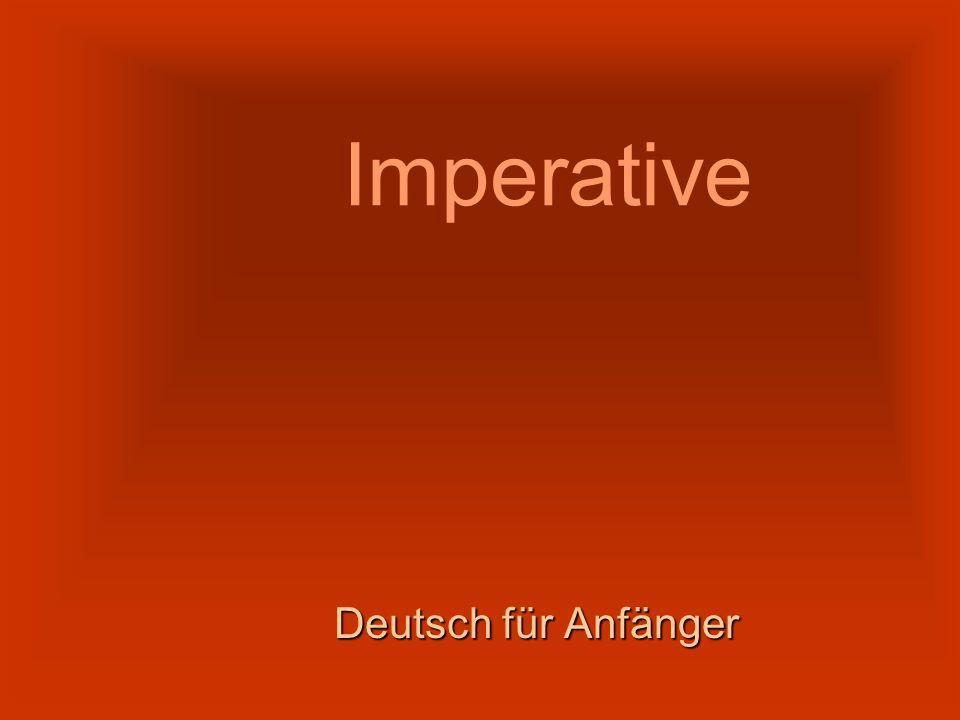 Imperative Deutsch für Anfänger