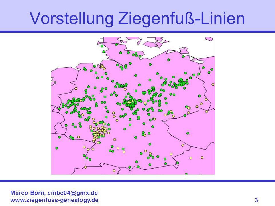 Marco Born, embe04@gmx.de www.ziegenfuss-genealogy.de 3 Vorstellung Ziegenfuß-Linien