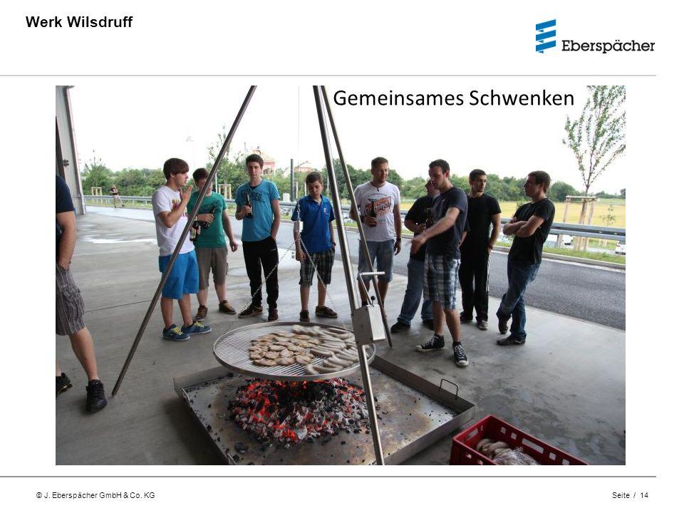 © J. Eberspächer GmbH & Co. KG Seite / 14 Werk Wilsdruff Gemeinsames Schwenken